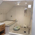 custom white tile shower bath enclosure