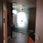 custom glass translucent shower enclosure upgrade