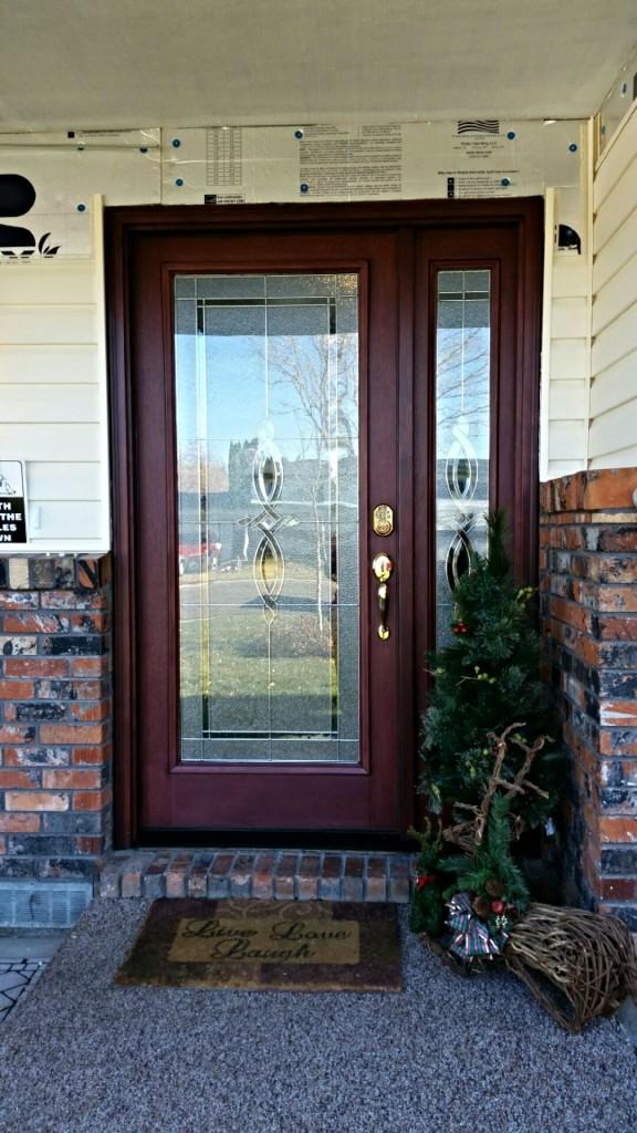 Maroon Front Door Upgrade Glass Etching Atkinsons Mirror Glass